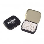 Small Hinged Tin - White Mints Logo Branded