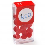 Logo Branded Mini Flip Top Candy Dispensers - Red Hots