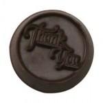 0.24 Oz. Chocolate Thank You Round Medium Custom Printed