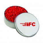 Logo Branded Large Round Tin - Red Hots