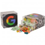 Candy 3 Way Stack Acetate Tower w/Full Color Sleeve Custom Printed