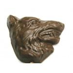 Logo Branded 1.12 Oz. Chocolate Wolf Head - Teeth Showing