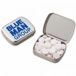 Logo Branded Small Hinged Tin - Powermints
