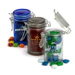 Round Glass Candy Jar Logo Branded