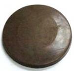 Logo Branded 1.2 Oz. Chocolate Circle Plain Large Thick