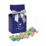 Chocolate Gourmet Mints in Metallic Blue Gift Box Custom Imprinted