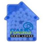 House Shaped Credit Card Mints Logo Branded