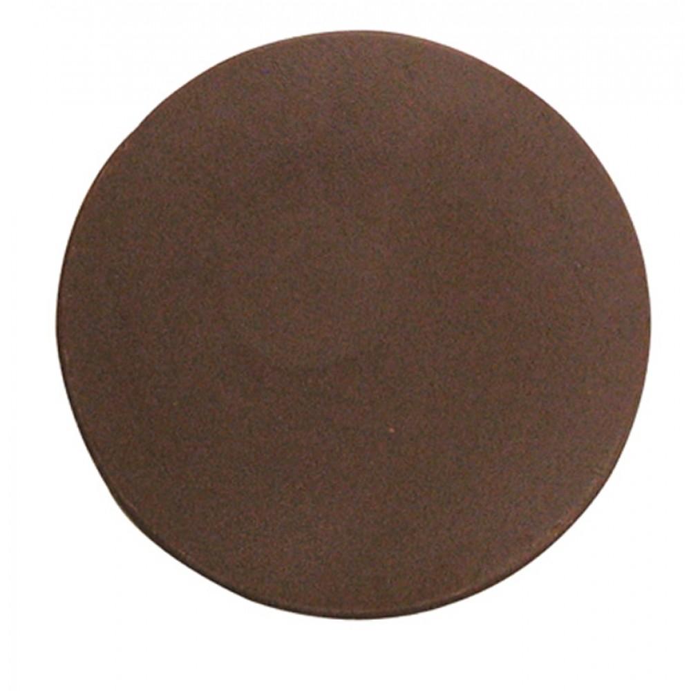 0.96 Oz. Large Round Chocolate Plain Thin Logo Branded