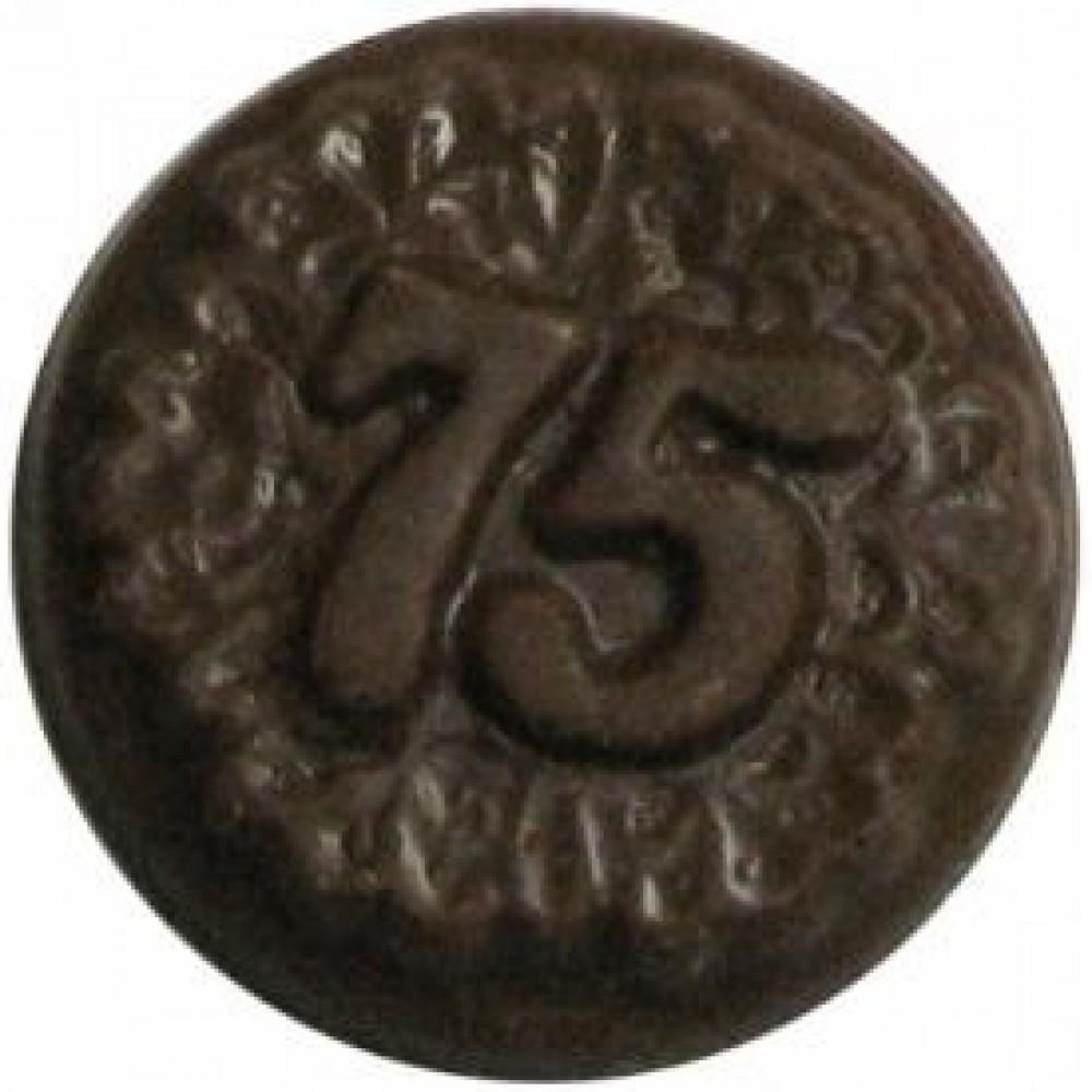 Custom Imprinted 0.24 Oz. Chocolate 75th Anniversary Round Decorated