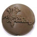 1.12 Oz. Chocolate Happy Birthday Round Custom Imprinted