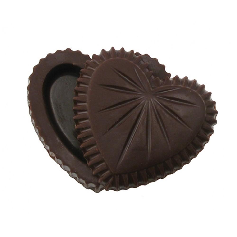 2.08 Oz. Chocolate Heart Box w/Small Starburst Lid Custom Printed