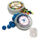 Custom Imprinted Rim Tin w/ Window Mini Mints Candy by Color