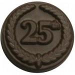 Logo Branded 0.32 Oz. Chocolate 25th Anniversary Round W/Crest