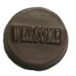 0.16 Oz. Chocolate Welcome Round Logo Branded