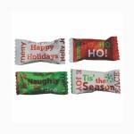 Hard Cinnamon Balls in a HO HO Wrapper Custom Imprinted