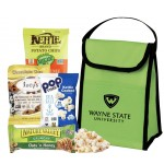 Custom Printed Cooler filled with Healthy Snacks (Lime Green)