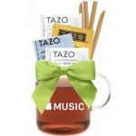 Custom Imprinted Glass Mug with Tea & Honey