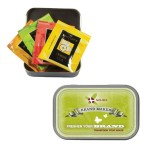 Compact Tea Tin Custom Printed