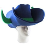 Personalized Cowboy Hat with Bull Horns