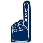 "Custom Printed 16"" Golf Glove Hand"