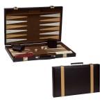 """Custom Printed 9"""" Leatherette Backgammon"""