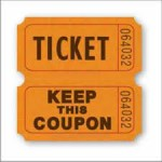 STOCK Double Raffle Ticket Roll of 2000 Ticket / Keep This Coupon Custom Printed