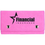 Logo Branded Pink 2 Card Leatherette w/5 Dice Set