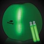 "Custom 24"" Green Light Up Translucent Inflatable Beach Ball"