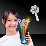 Personalized Clover Shape Glow Swizzle Toppers