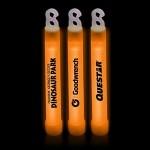 "Customized 6"" Premium Orange Glow Stick"