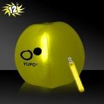 "Customized 12"" Inflatable Beach Ball w/Yellow Light Stick"