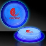 "Personalized 3"" Circle Shaped Blue Glow Badges"