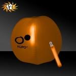 "Promotional 12"" Inflatable Beach Ball w/Orange Light Stick"