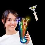 Customized Martini Shape Glow Swizzle Toppers