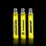"Customized 4"" Premium Yellow Glow Stick"