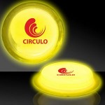 "Promotional 3"" Circle Shaped Yellow Glow Badges"
