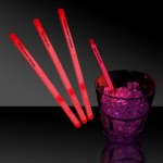 """Promotional 5"""" Single Color Red Glow Swizzle Stick"""