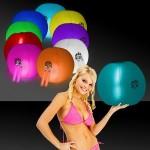 "Customized 24"" Inflatable Beach Ball w/ Light Stick"