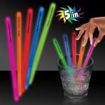 """Customized 5"""" Single Color Glow Swizzle Stirrer Sticks"""