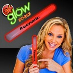 "Custom 10"" Red Glow Concert Stick"