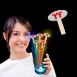 Logo Branded Oval Shape Glow Swizzle Toppers