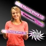"Personalized Think Pink 16"" Foam LED Baton"