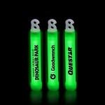 "Customized 4"" Premium Green Glow Stick"