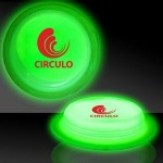 """Promotional 3"""" Circle Shaped Green Glow Badges"""