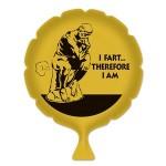 Logo Branded I Fart...Therefore I Am Whoopee Cushion