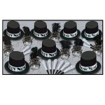 Logo Branded Silver Top Hat New Year Assortment For 50