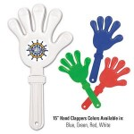 "Custom Imprinted 15"" Giant Hand Clapper w/ Custom Printed Decal"