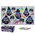 Custom Imprinted Neon Midnight Happy New Year Assortment For 10