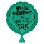 Logo Branded Who Let The Fart Out? Whoopee Cushion