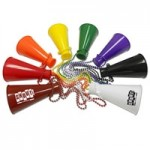 """Logo Branded 6 """" Megaphone With Beads"""